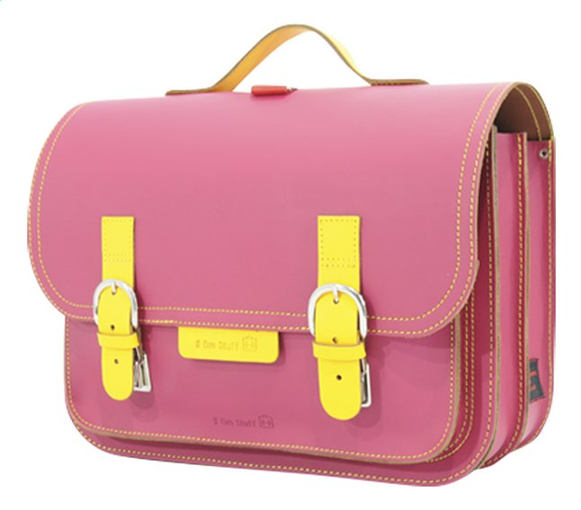 Afbeelding van # Own Stuff boekentas Yellow/Fuchsia 38 cm from ColliShop