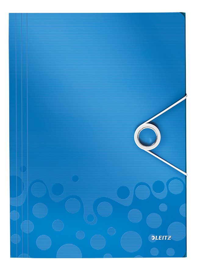 Image pour Leitz farde à élastique A4 WOW bleu à partir de ColliShop