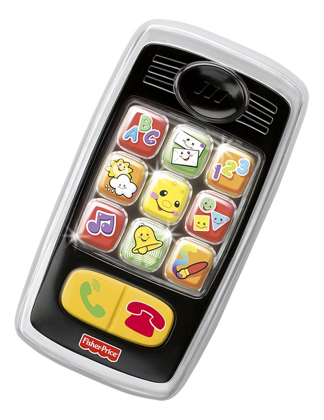 Image pour Fisher-Price Mon premier téléphone portable Laugh & Learn Smilin' Smart Phone FR à partir de ColliShop
