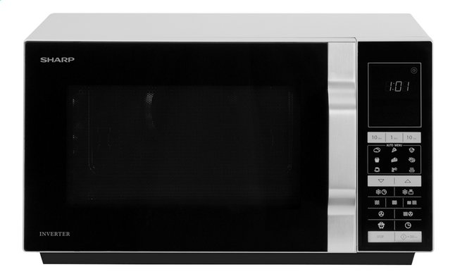 Sharp Micro-ondes combiné R890S gris argenté