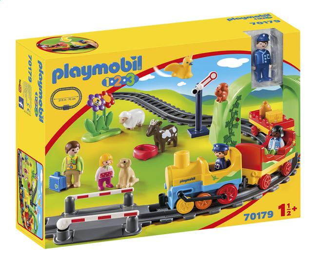 PLAYMOBIL 1.2.3 70179 Train avec passagers et circuit