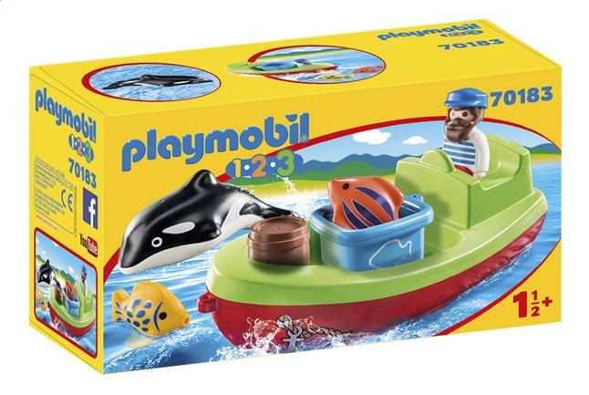 PLAYMOBIL 1.2.3 70183 Bateau et pêcheur