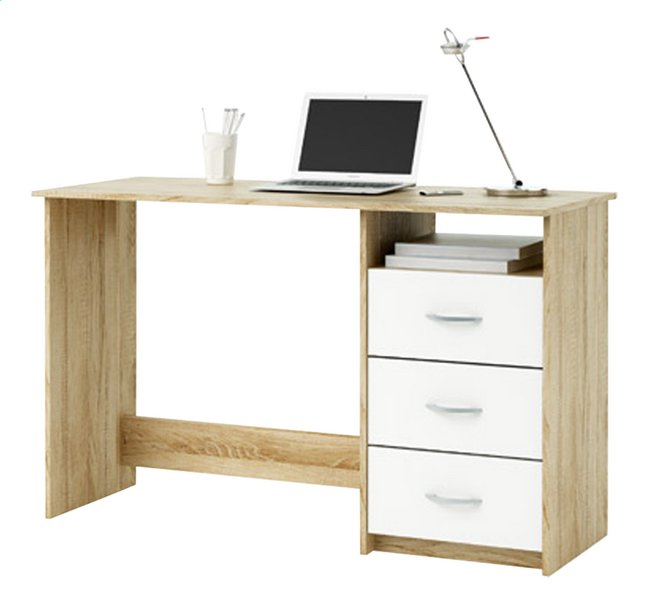 Afbeelding van Bureau Aristote B 123 cm eikdecor/wit from ColliShop