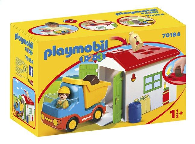 PLAYMOBIL 1.2.3 70184 Ouvrier avec camion et garage