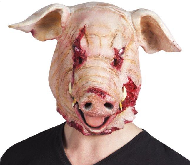 Masque cochon sanguinolant