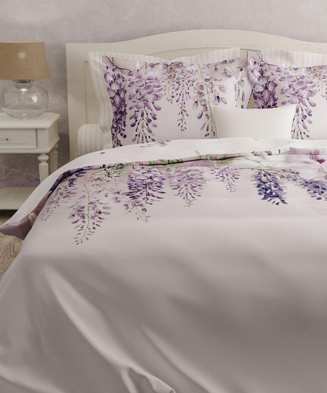 Image pour Heckett & Lane Housse de couette Carmen wisteria pink satin de coton à partir de ColliShop
