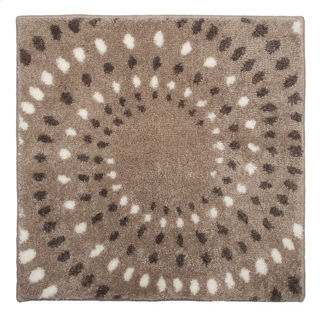 Image pour Floris tapis de bain Spray sable 60 x 60 cm à partir de ColliShop