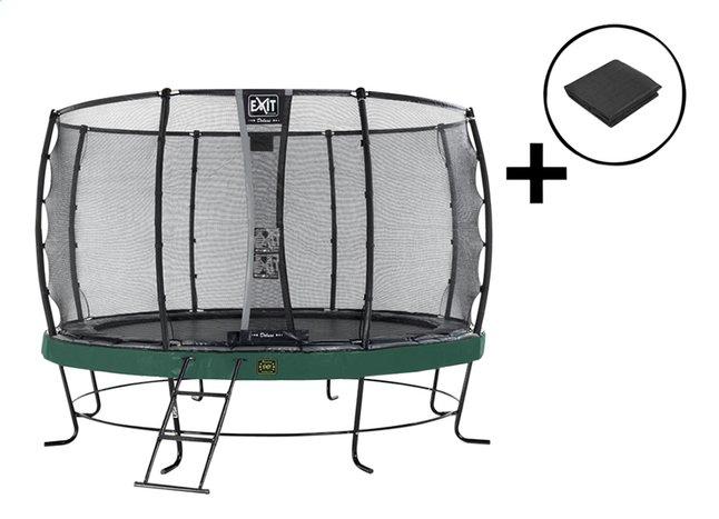 Afbeelding van EXIT trampolineset Elegant Premium Deluxe All-in-1 Ø 4,27 m groen from ColliShop