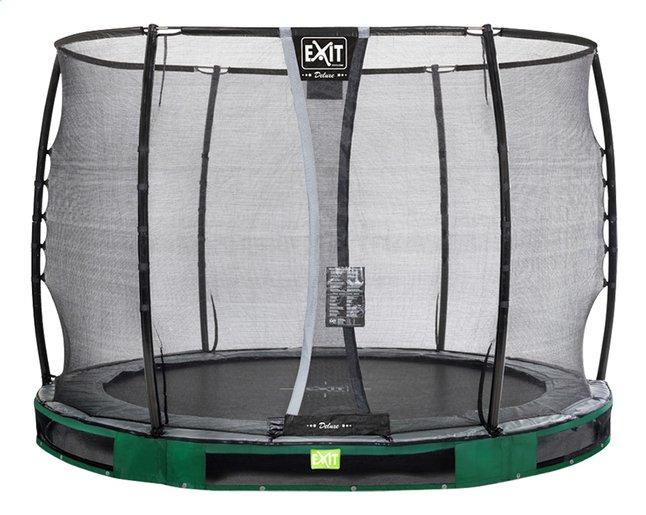 EXIT trampoline enterré avec filet de sécurité Elegant Ground Premium Deluxe Ø 3,05 m vert
