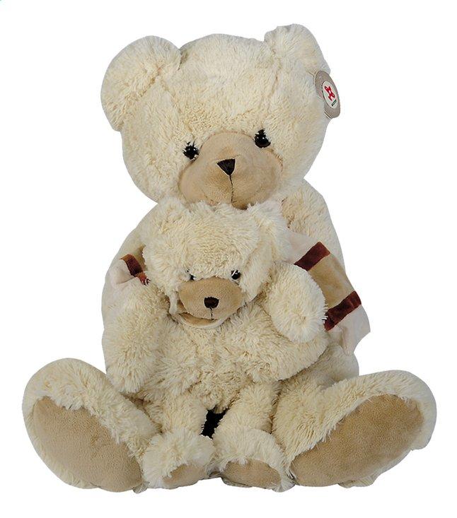 Image pour Nicotoy peluche ours avec ourson 53 cm à partir de ColliShop