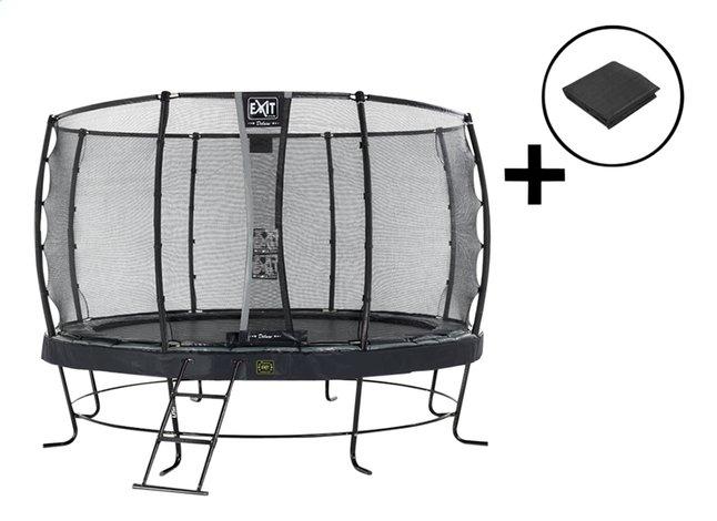 EXIT trampolineset Elegant Premium Deluxe All-in-1 Ø 4,27 m zwart
