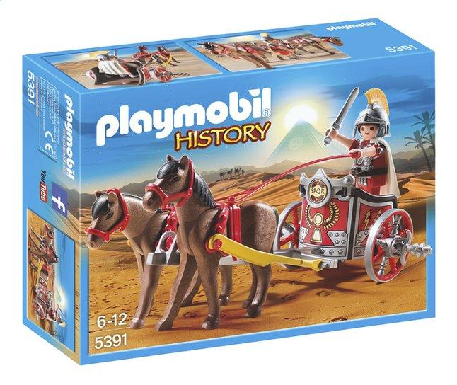 Afbeelding van PLAYMOBIL History 5391 Romeinse strijdwagen met tribuun from ColliShop