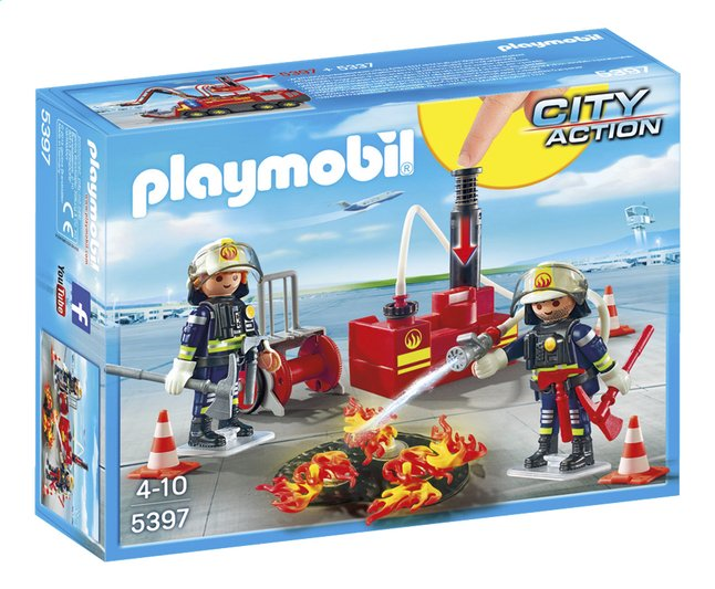 Afbeelding van Playmobil City Action 5397 Brandweermannen met blusmateriaal from ColliShop