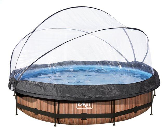 Image pour EXIT piscine Wood avec coupole Ø 3,60 m à partir de ColliShop