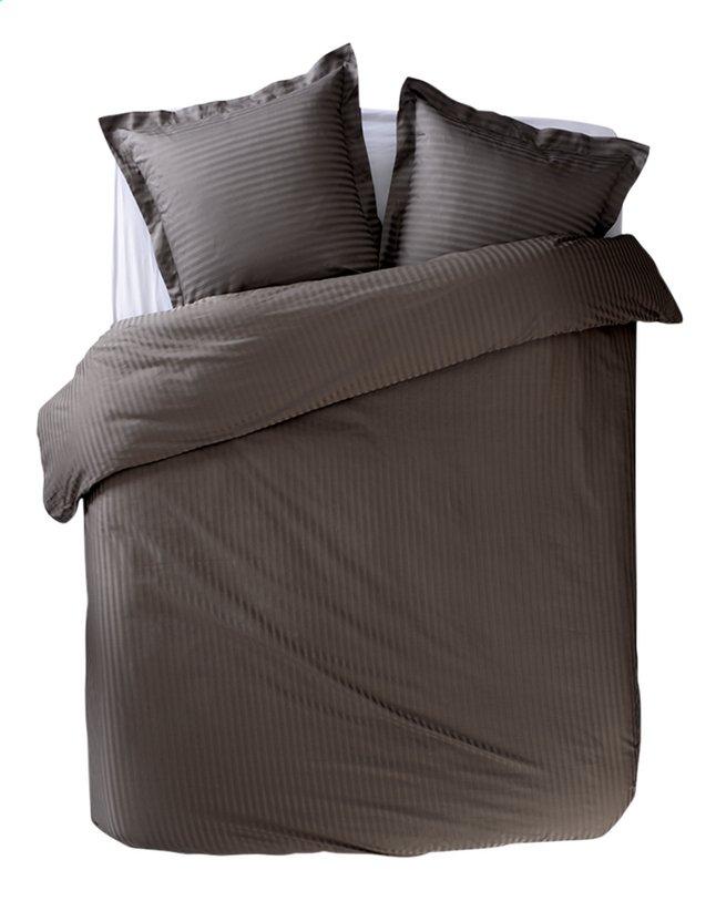 Sleepnight Dekbedovertrek Satinada vertical katoensatijn antraciet