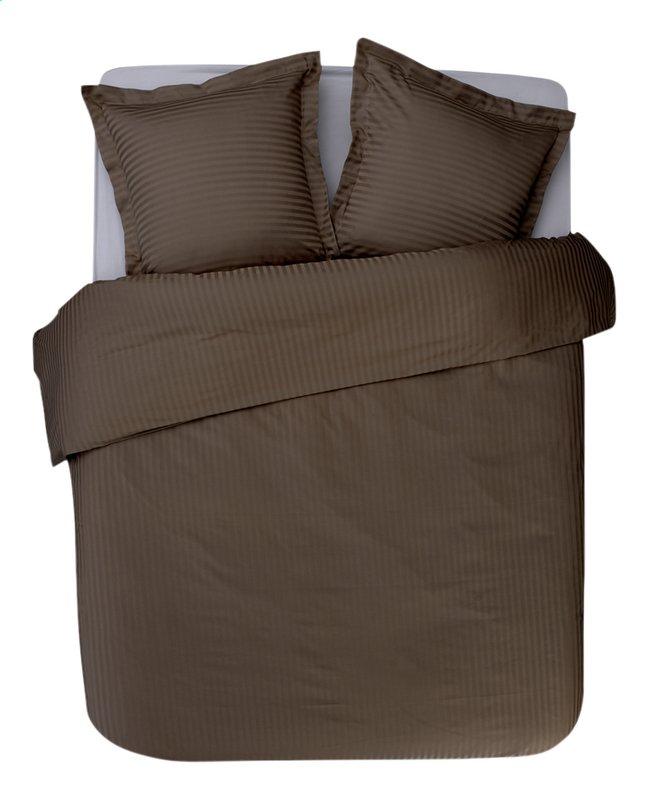 Image pour Sleepnight Housse de couette Satinada vertical satin de coton taupe 140 x 220 cm à partir de ColliShop