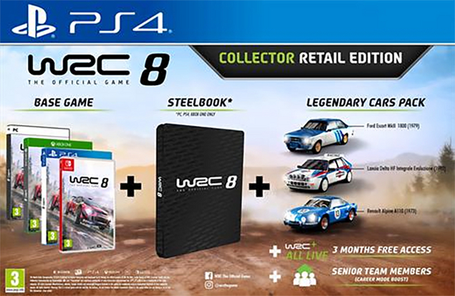 PS4 WRC 8 Collector Retail Edition ENG/FR
