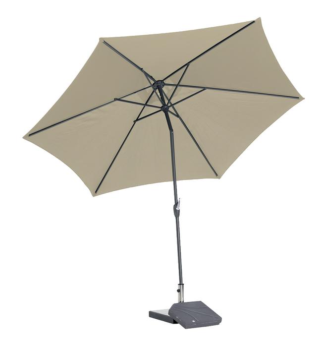 Afbeelding van Aluminium parasol diameter 3 m zand from ColliShop
