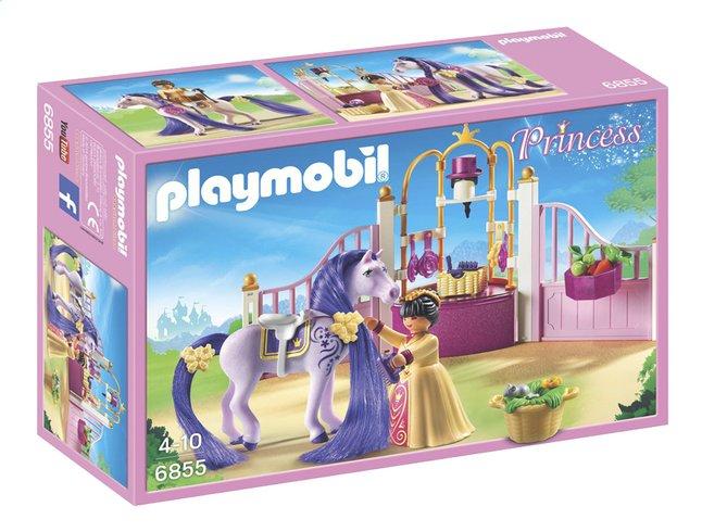 Afbeelding van PLAYMOBIL Princess 6855 Koninklijke stal met paard om te kammen from ColliShop