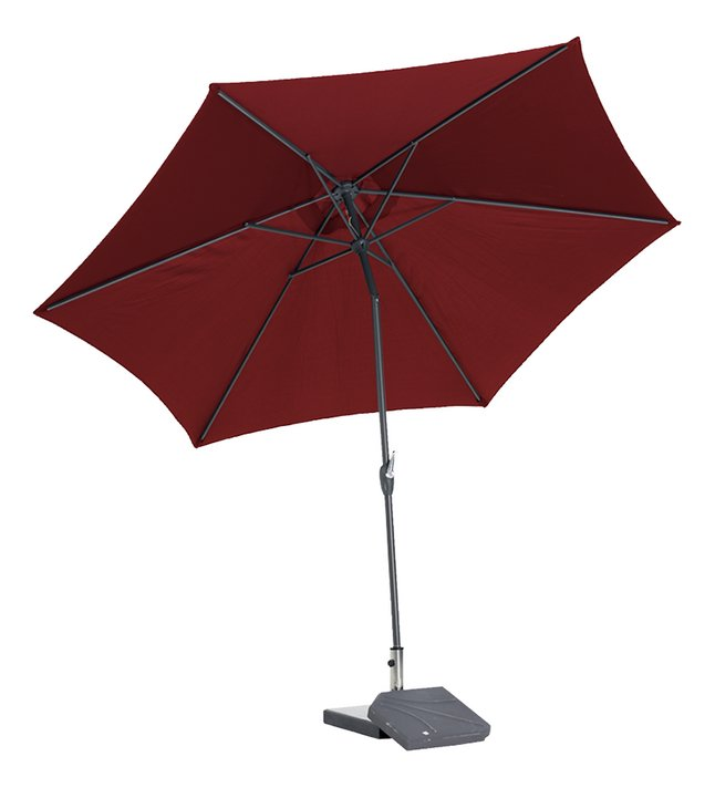 Afbeelding van Aluminium parasol diameter 3,5 m bordeaux from ColliShop
