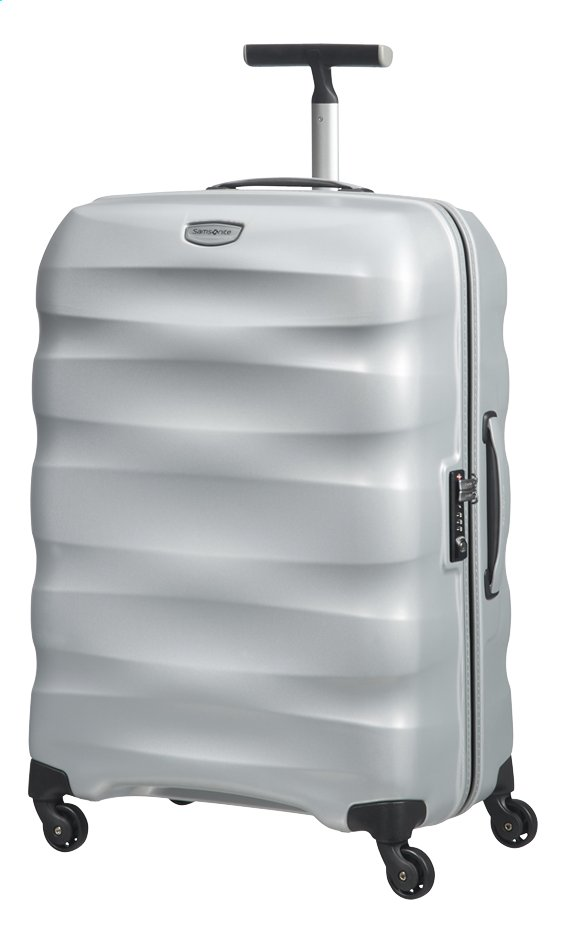 Afbeelding van Samsonite Harde reistrolley Engenero Spinner silver 69 cm from ColliShop