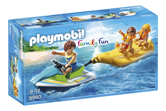 Afbeelding van PLAYMOBIL Family Fun 6980 Jetski met bananenboot from ColliShop