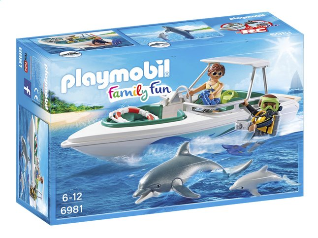 Afbeelding van Playmobil Family Fun 6981 Duiktrip met plezierboot from ColliShop