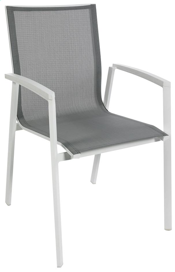 Image pour Chaise de jardin Bondi gris clair/blanc à partir de ColliShop