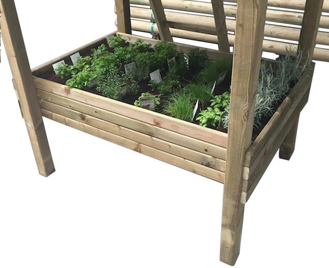 Image pour BnB Wood bac à sable/table à potager pour Nieuwpoort à partir de ColliShop