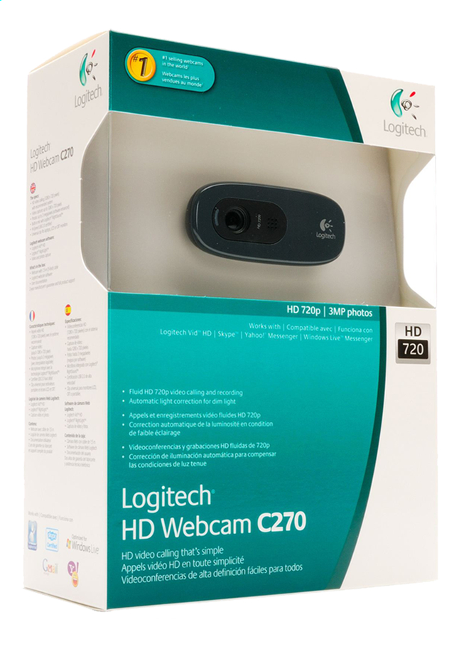 Image pour Logitech webcam C270 HD à partir de ColliShop