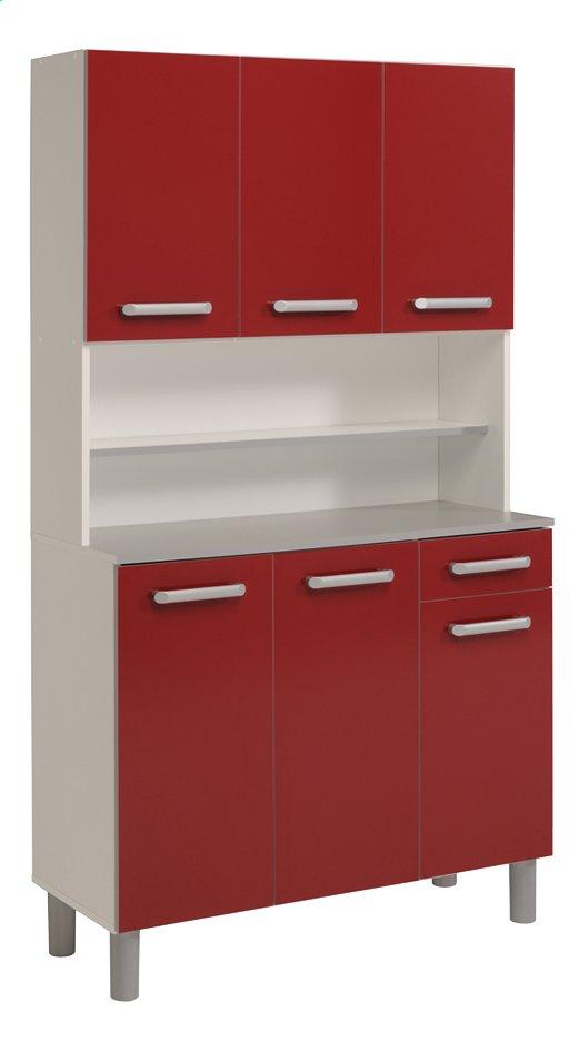 Image pour Parisot armoire de cuisine Glossy rouge à partir de ColliShop