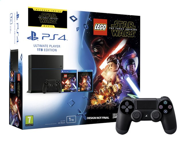 Afbeelding van Sony PS4 console 1TB + Lego Star Wars incl. Blu-ray The Force Awakens + 1 extra controller from ColliShop
