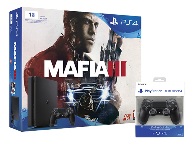 Afbeelding van PS4 Slim console 1 TB +  Mafia 3 ENG/FR + 1 extra controller from ColliShop