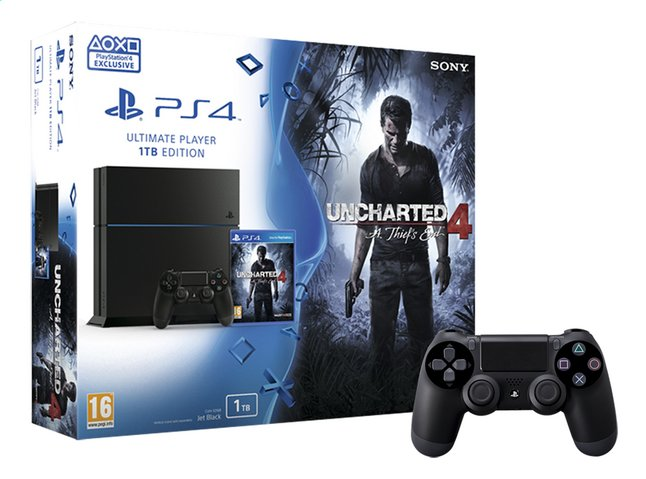 Afbeelding van Sony PS4 console 1TB + Uncharted 4 A Thief's End ENG/FR + 1 extra controller from ColliShop