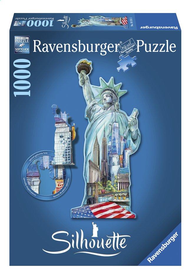 Afbeelding van Ravensburger puzzel Silhouet Vrijheidsbeeld New York from ColliShop