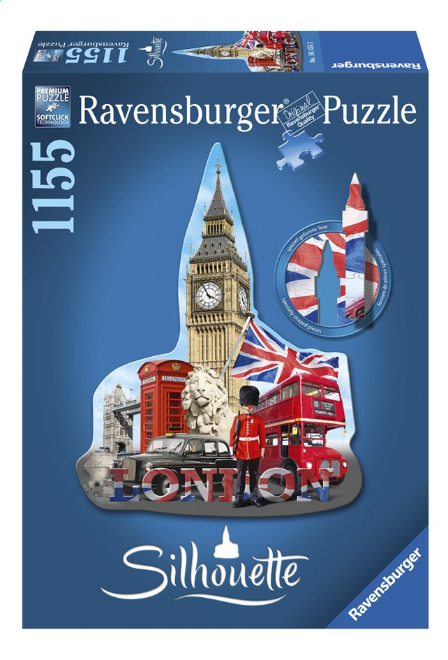 Afbeelding van Ravensburger puzzel Silhouet Big Ben London from ColliShop