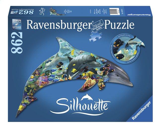 Image pour Ravensburger puzzle Silhouette Le monde des dauphins à partir de ColliShop