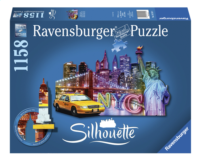 Afbeelding van Ravensburger puzzel Silhouet Skyline New York from ColliShop