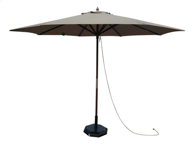 Parasol de luxe en bois FSC Ø 3 m taupe