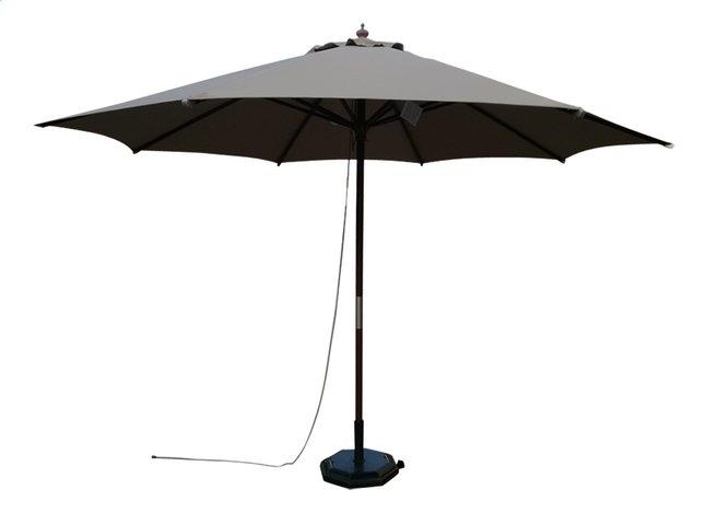 Image pour Parasol de luxe en bois FSC diamètre 3,5 m taupe à partir de ColliShop