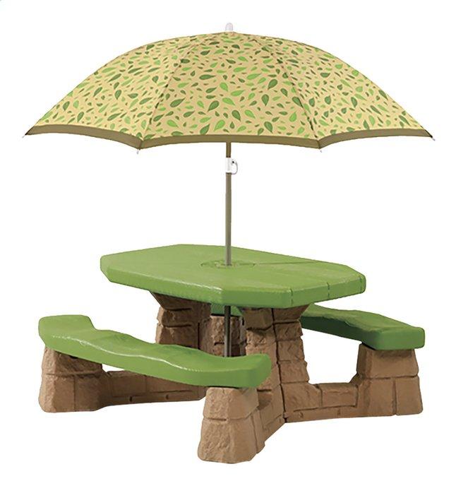 Afbeelding van Step2 kinderpicknicktafel Naturally Playful met parasol from ColliShop