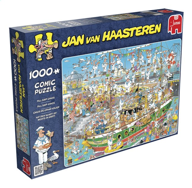 Afbeelding van Jumbo Puzzel Jan Van Haasteren Tall ship chaos from ColliShop