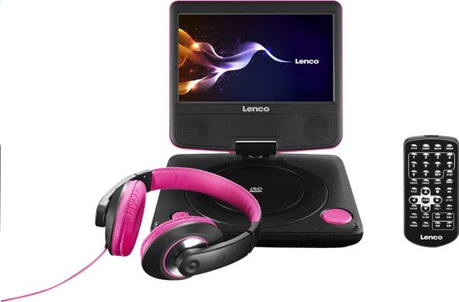 Image pour Lenco lecteur DVD portable DVP-754 7'' avec casque audio rose à partir de ColliShop