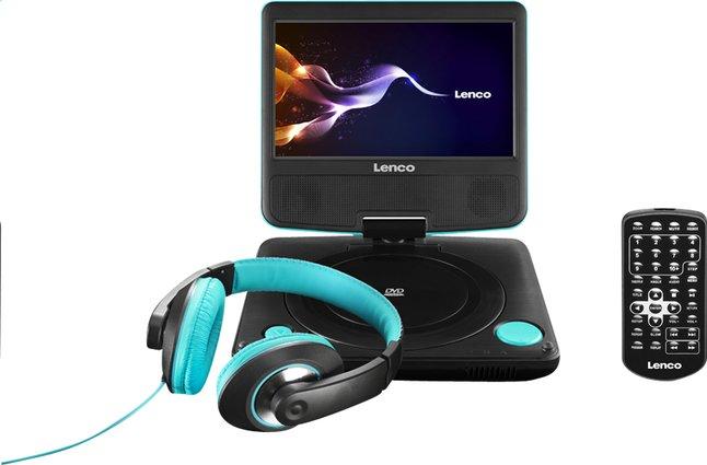 Afbeelding van Lenco draagbare DVD-speler DVP-754 7'' met hoofdtelefoon blauw from ColliShop