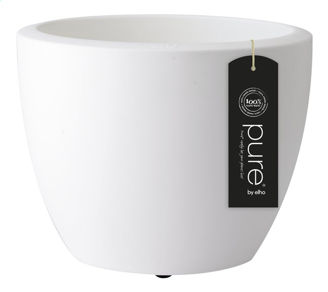 Image pour Elho pot Pure Soft round white diamètre 40 cm à partir de ColliShop