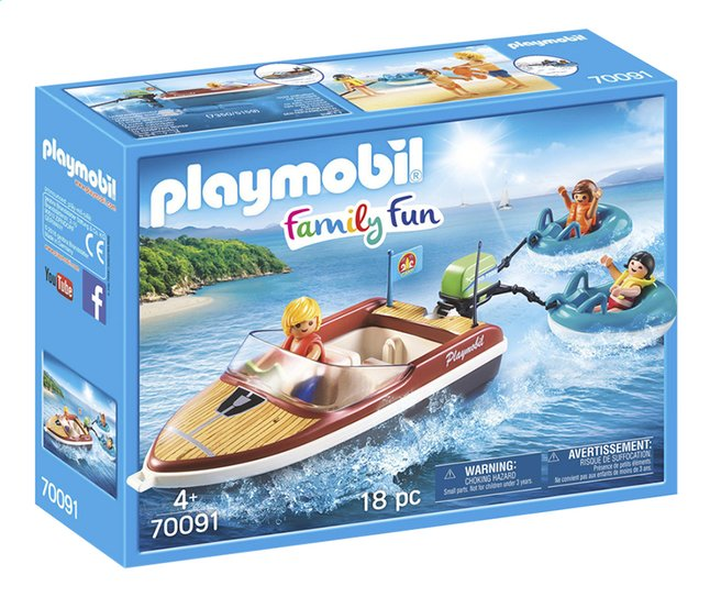 Afbeelding van PLAYMOBIL Family Fun 70091 Motorboot met funtubes from ColliShop