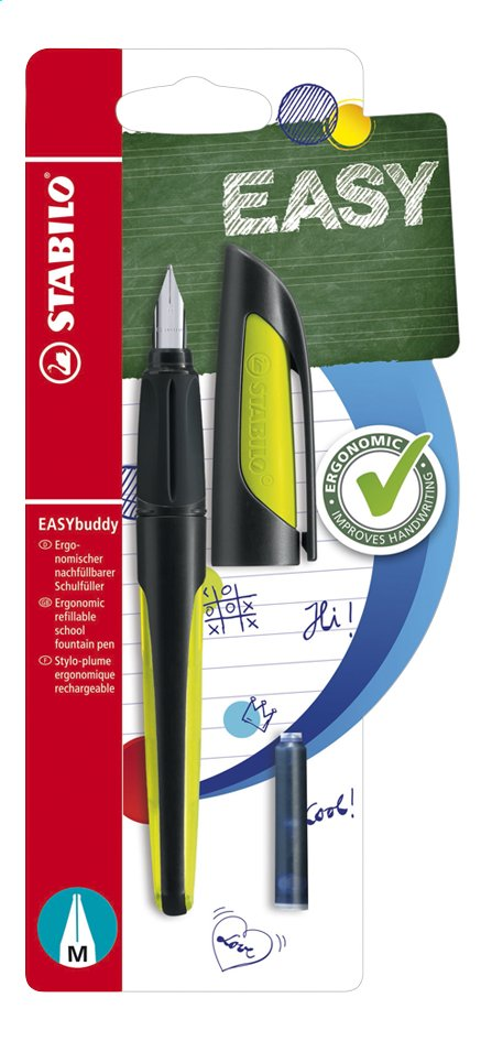 Image pour STABILO stylo Easy buddy Black/Lime à partir de ColliShop
