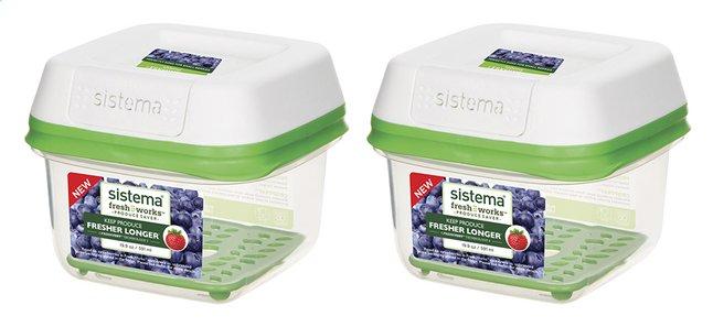 Image pour Sistema Boîte de conservation FreshWorks 2 x 0,591 l à partir de ColliShop
