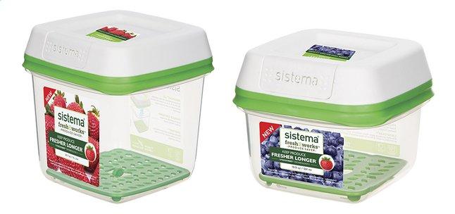 Sistema 2 boîtes de conservation FreshWorks 0,591 l + 1,5 l