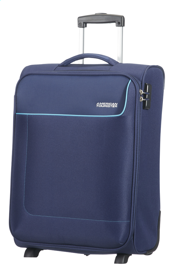 Afbeelding van American Tourister Zachte reistrolley Funshine Upright orion blue 55 cm from ColliShop